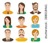 flat vector characters. vector... | Shutterstock .eps vector #288018461
