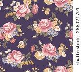 beautiful vintage seamless... | Shutterstock .eps vector #288021701