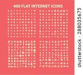 400 flat internet  business ... | Shutterstock .eps vector #288035675