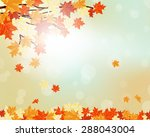 autumn  frame with falling ... | Shutterstock .eps vector #288043004
