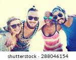 friendship bonding relaxation... | Shutterstock . vector #288046154