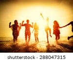 friendship freedom beach summer ... | Shutterstock . vector #288047315
