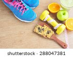 sport and healthy food for diet ... | Shutterstock . vector #288047381
