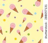 ice cream seamless pattern | Shutterstock .eps vector #288057131