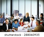 business people office working... | Shutterstock . vector #288060935