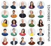 diverse people multi ethnic... | Shutterstock . vector #288061421
