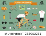 cyclist's element infographics
