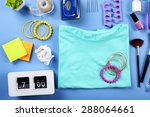 modern female clothing and... | Shutterstock . vector #288064661