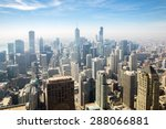 aerial view of chicago city usa | Shutterstock . vector #288066881