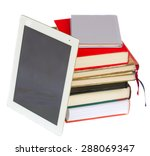 pile of books with modern... | Shutterstock . vector #288069347