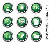 time duration green vector... | Shutterstock .eps vector #288073211