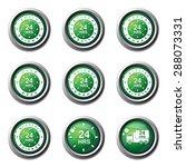 24 hours services green vector... | Shutterstock .eps vector #288073331