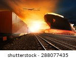 container trains  commercial... | Shutterstock . vector #288077435