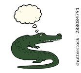 cartoon crocodile with thought... | Shutterstock . vector #288084791