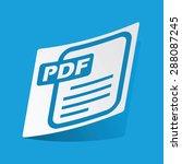 sticker with pdf file icon ...