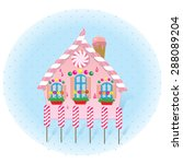 fairy tale house made of candy | Shutterstock .eps vector #288089204