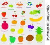set paper silhouette fruits and ...   Shutterstock .eps vector #288089807