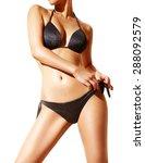 Beautiful Woman Body With Blac...