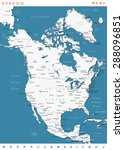 north america map   highly... | Shutterstock .eps vector #288096851