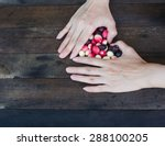 female hands forming heart... | Shutterstock . vector #288100205