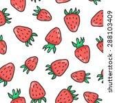 fruit pattern  hand drown ... | Shutterstock .eps vector #288103409