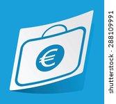 sticker with euro bag icon ...