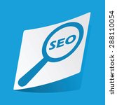 sticker with seo search icon ...