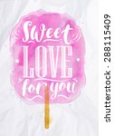 poster watercolor cotton candy... | Shutterstock .eps vector #288115409
