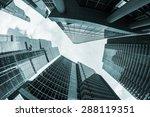 futuristic modern skyscrapers... | Shutterstock . vector #288119351