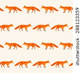 polygonal abstract fox isolated ... | Shutterstock .eps vector #288123359