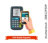 mobile payment trough pos. hand ... | Shutterstock .eps vector #288129509