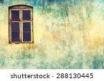 painted wall with window. lomo... | Shutterstock . vector #288130445