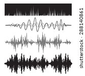 vector music sound waves set.... | Shutterstock .eps vector #288140861