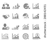 vector icon business  finance... | Shutterstock .eps vector #288142451