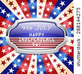 4th of july american... | Shutterstock .eps vector #288144275