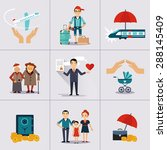 insurance character and icons...
