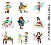 active lifestyle  hobbies ... | Shutterstock .eps vector #288145619