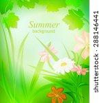 Summer Natural Background Flor...