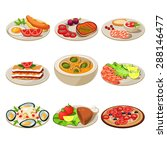 set of food icons. european... | Shutterstock .eps vector #288146477