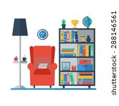 living room interior with... | Shutterstock .eps vector #288146561