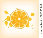 background with orange slice.... | Shutterstock .eps vector #288149141