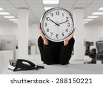 time  working late  humor. | Shutterstock . vector #288150221
