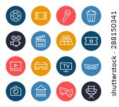cinema icon set | Shutterstock .eps vector #288150341