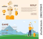 man playing golf mountains in...   Shutterstock .eps vector #288159845