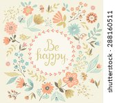vector floral card. | Shutterstock .eps vector #288160511