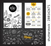 restaurant cafe menu  template... | Shutterstock .eps vector #288162671