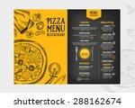 restaurant cafe menu  template... | Shutterstock .eps vector #288162674