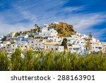 chora town  ios island ... | Shutterstock . vector #288163901