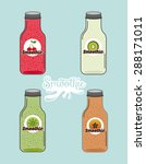 smoothie product design  vector ... | Shutterstock .eps vector #288171011