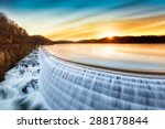 sunrise over croton dam  ny and ...